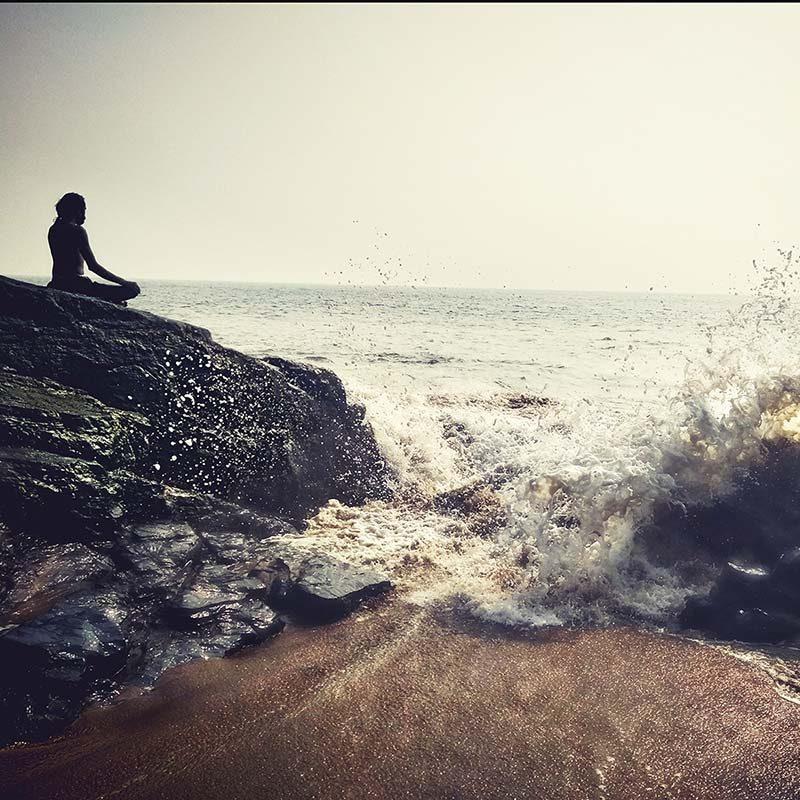 meditation on the rock shree hari yoga school