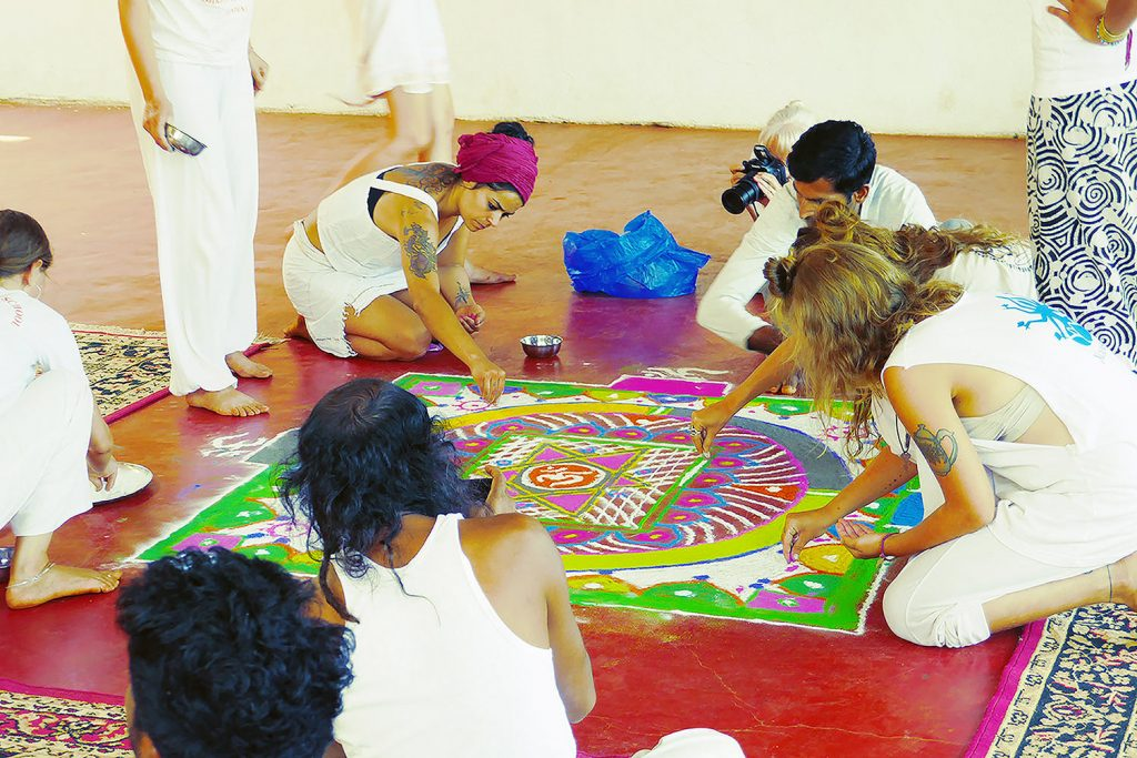 yoga philosophy class with mandala making amd understanding