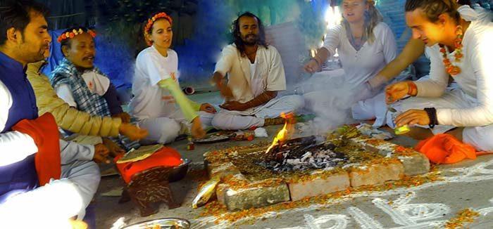 Shree Hari's fire ceremony in Dharamshala