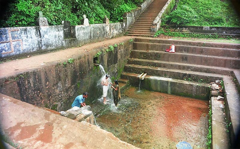 holy water in Rama temple in gokarna, india