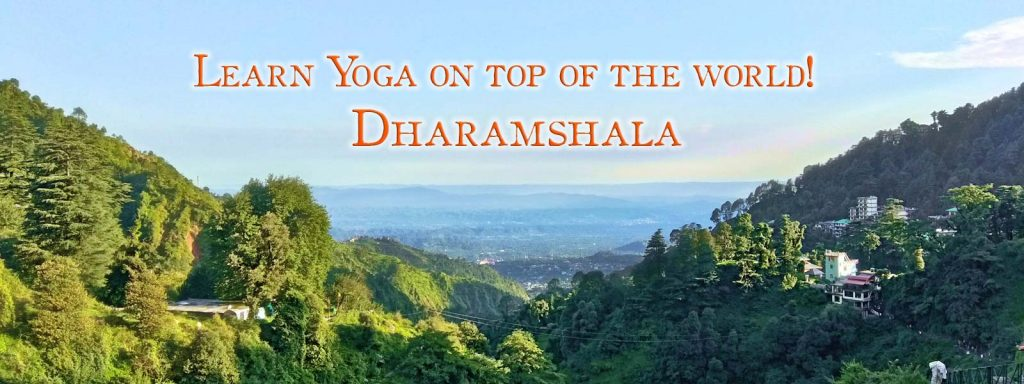 A view from Yoga TTC Shree Hari Yoga School at dharamsala