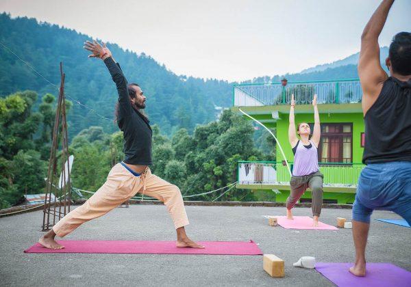 Warrior I Pose (Virabhadrasana I), ashtanga yoga, shree hari yoga