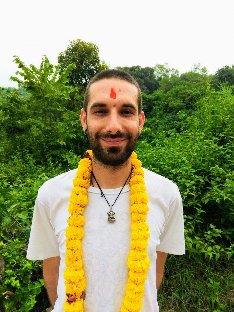 alberto, 200 hour yttc student from italy in shree hari yoga school